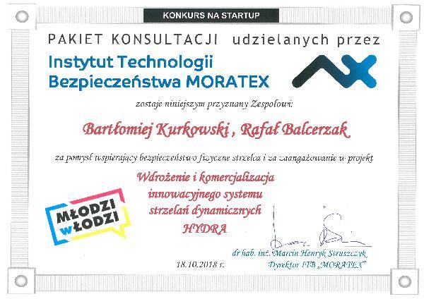 MORATEX nagradza wybrany StartUp w programie Młodzi w Łodzi 2018
