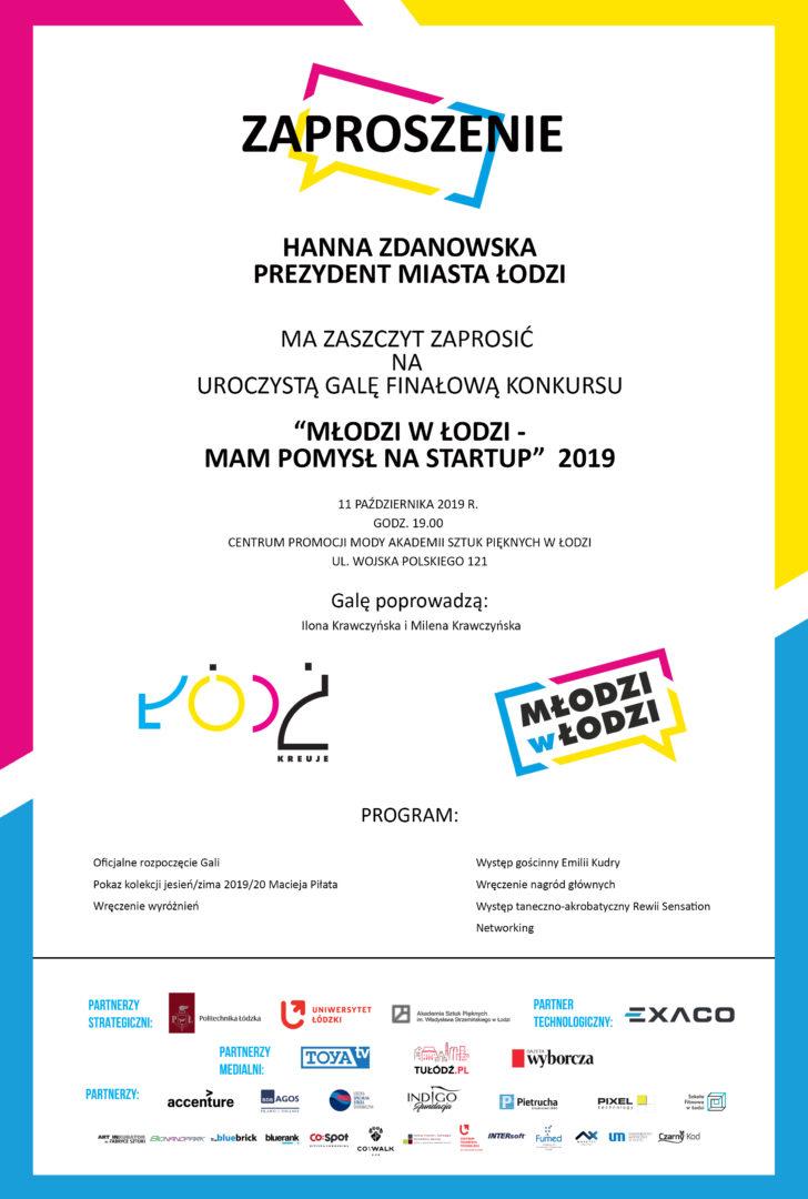 """Gala Finałowa konkursu """"Mam pomysł na Start up 2019"""""""