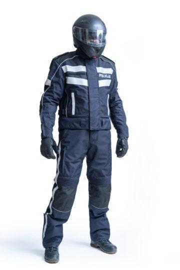 Kombinezon dla funkcjonariuszy, zwłaszcza policji, pełniących służbę na motocyklach